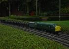 Diesel on oil train
