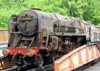 Alan Moretons Aster 9F on the turntable at Buckfastleigh. The weathering was carried out by Dave Walker